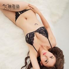 久慕雅黛NJ0088 情趣内衣 黑色蕾丝睡裙 限价78
