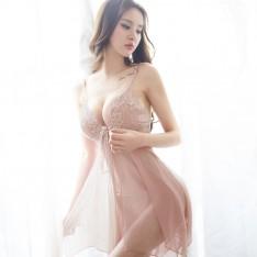 久慕雅黛蕾丝吊带裙诱惑透明情趣内衣性感睡衣套装 NJ0145