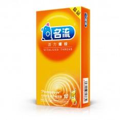 名流精品系列 活力螺纹 10只装安全套 避孕套