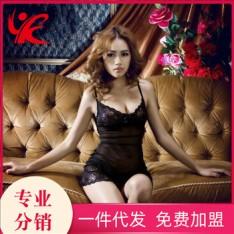 史黛丝 黑色睡衣+T裤 性感情趣内衣(含T裤)11091