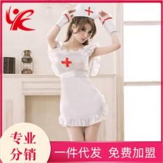 久慕雅黛性感护士制服诱惑套装透明睡衣睡裙 NJY0039